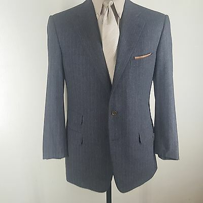 Ermenegildo Zegna Vtg Gray/tan Stripe Suit 3 Btn.side Vents  Pleated Pants 42 R