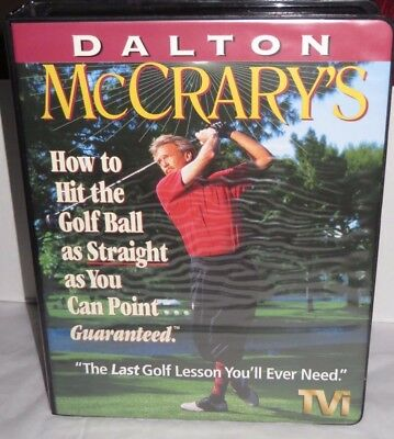 Dalton McCrarys Hit Golf Ball As Straight As You Can Point System VHS Box Set