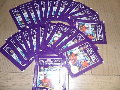25 x Packets of Merlin's Football Premier League 2017 Stickers, Sealed, Unopened