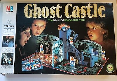 Ghost Castle 1985 Vintage MB Board Game In Good Condition 100% Complete
