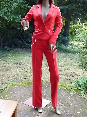 *VERO MODA* Ladies Red 2pc Tailored SUIT of JACKET & TROUSERS UK16 BNWT rrp£88