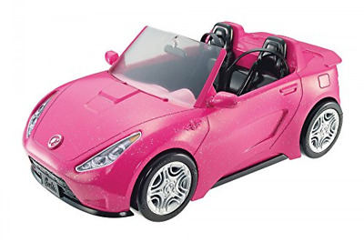 Barbie Glam Convertible Pink Car Doll 2 mattel hot Seats Shine Vehicle Girls .