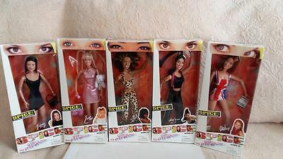 "Galoob 1997 Spice Girls ""Girl Power"" Dolls **COMPLETE SET** NRFB"