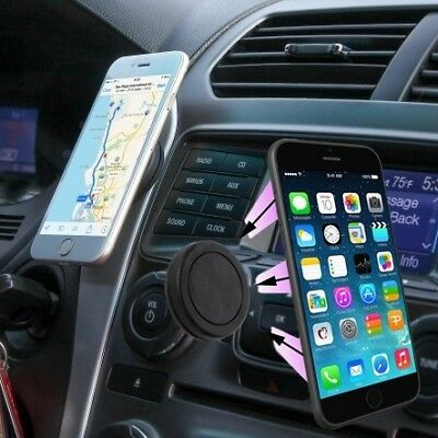 2 Pack: Universal Flat Stick On Dashboard Magnetic Car Mount Holder