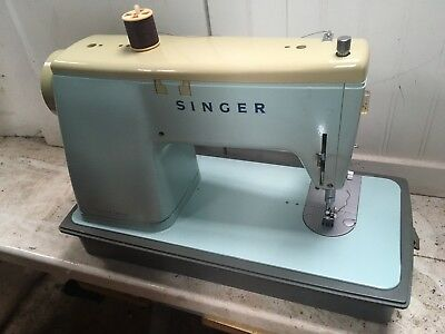 Blue Singer Sewing Machine With All The Bits