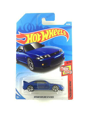 Hot Wheels Int Carded 2018 Then And Now Nissan Skyline GT-R R33 #6 Blue