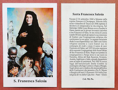 Santino Holy Card: S. Santa Francesca Salesia
