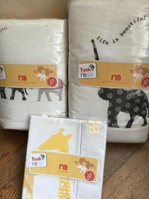 Bumper, Quilt & Pack Of 2 Cot Pockets From The Tusk Range At Mothercare