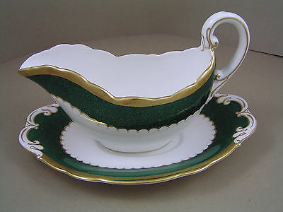Coalport Connaught Gravy Boat And Saucer.