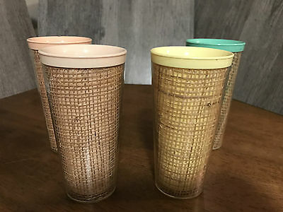 Raffia Encased Tall Tumblers