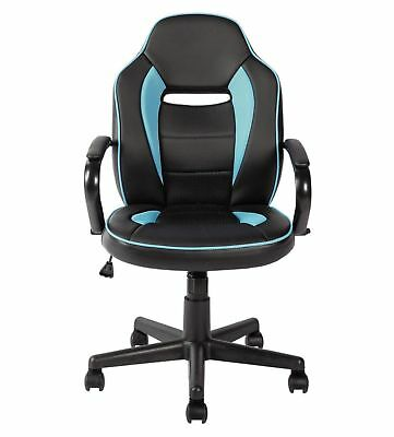 HOME Mid Back Office Gaming Chair - Blue & Black T101.