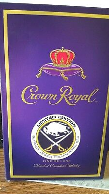Crown Royal Box Buffalo Sabres Limited Edition Empty Box  With Collector Bag
