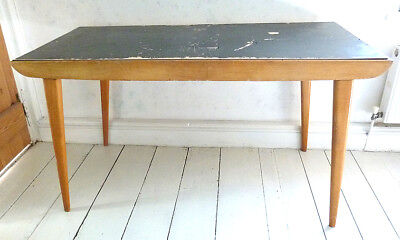 Vintage Dining Table / Desk, 1950'S Made By Benchairs With Makers Label.