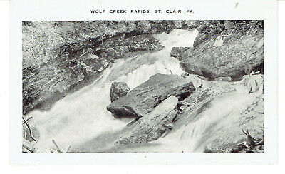 1930's PPC View of The Wolf Creek Rapids - St.Clair, Pa.