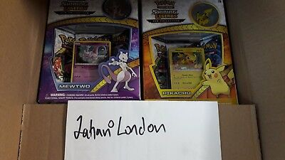 Pokemon Shining Legends Mewtwo & Pikachu Pin Box Bundle!