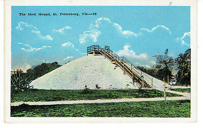 1920's PPC View of The Shell Mound - St.Petersburg, Florida