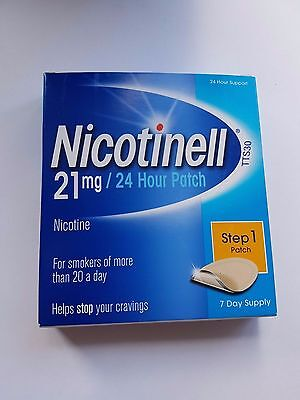 Nicotinell 21mg 24hour patch Step 1 7 day supply BNIB