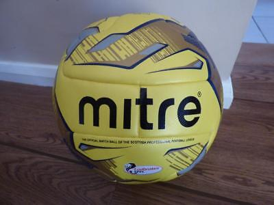 Motherwell Mitre Delta Fluo Hyperseam Official SPFL match football. Punctured