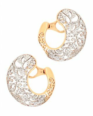POMELLATO Arabesque 18K Gold White Diamond Earrings O.B305/B9/O7 MSRP $16,400