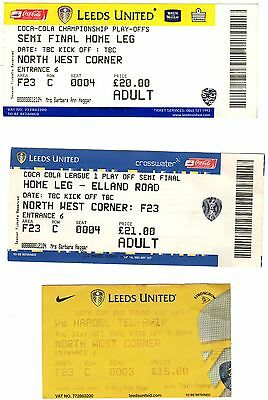 Leeds United Used Match Tickets
