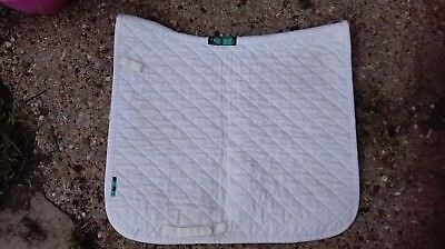 Griffin Nuumed High Wither White Everyday Dressage Saddle Cloth Numnah sz. Large