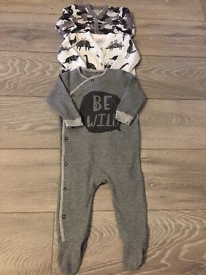 Next Baby Boys Sleepsuits 6-9 Immaculate