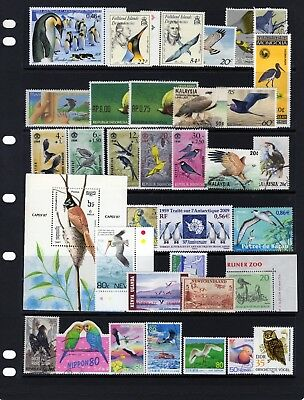 BIRDS,collection of Birds issues mixed  MINT / Fine Used