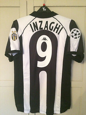 INZAGHI 1997-1998 Juventus Home Football Shirt CENTENARY JERSEY LARGE EX CONDI