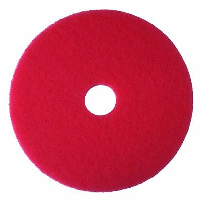 "3M Red Buffer Pad 5100, 16"" Floor Buffer, Machine Use (Case of 5)"