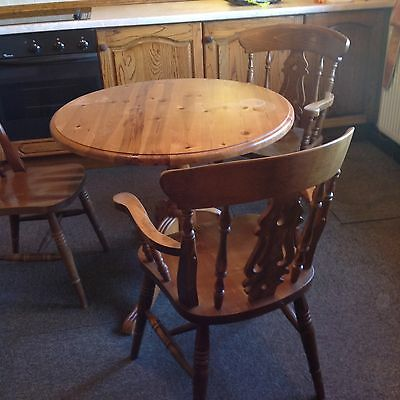 Farmhouse chairs and FREE round table