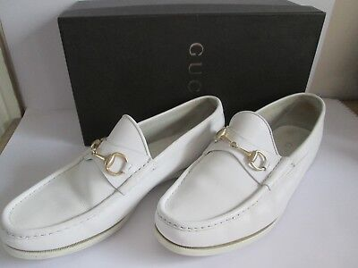 White Gucci Loafers Shoes UK 10 10.5 /  -  Leather Boxed