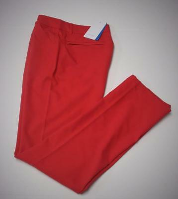 New Womens Size US 6 PING GOLF RENEE Slim Leg pants polyester cherry red