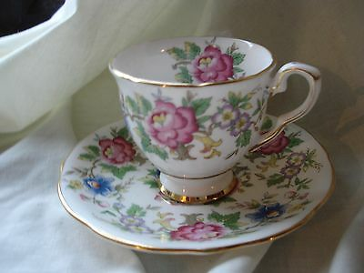 "Pretty Vintage Royal Stafford ""rochester"" Bone China Coffee Cup And Saucer"