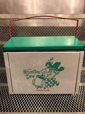 MOUNTAIN DEW THROWBACK ~ Vintage Style RARE ~ Old School COOLER Soda Advertising