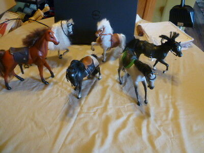 huge lot of Marchon horses, stable playset, trophies, fences  and accessories