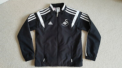 Boys Adidas Swansea City Football Training Tracksuit Top Jacket YM 10 Yrs