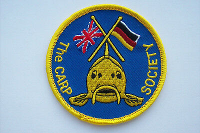 The Carp Society fishing , angling  Cloth Badge patch