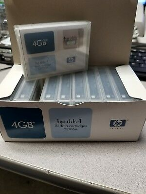 HP C5706A DDS-1 Data Cartridge 4GB Lot of 10
