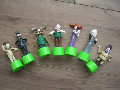 Wallace & Gromit Curse of the Were Rabbit Push Up Mini Figures x7