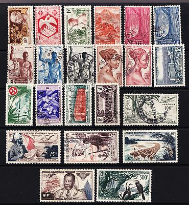 French Equatorial Africa 1940's & 1950's used selection of stamps - (481)