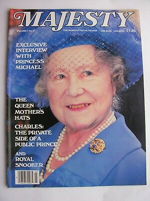 MAJESTY MAGAZINE Nov 1986 Vol 7 No 7 Queen Mother Princess Michael of Kent