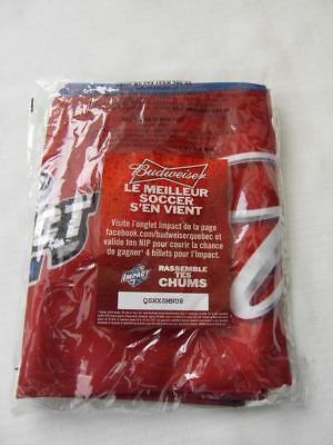 Montreal Impact Scarf Soccer League Legea Canada Mls Budweiser Beer New Promo
