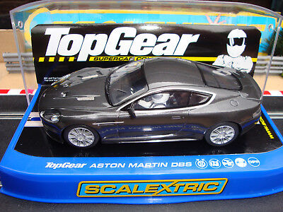C2982 Brand New Boxed Scalextric Top Gear Aston Martin Dbs With Lights