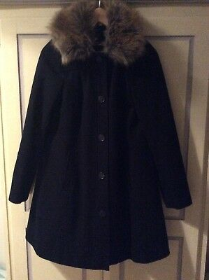 Red Herring By Debenhams Navy Maternity Smock Coat Size 10