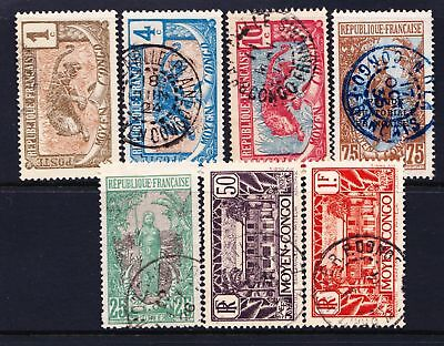 French Middle Congo 1907 - 1933 Small used selection of stamps  - (539)