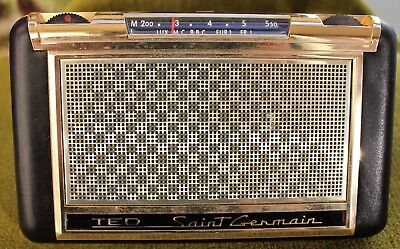rare ancienne petit radio TED saint germain