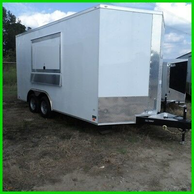 8.5 x 16 18 ft inside enclosed cargo vending concession trailer  3 x 6 window
