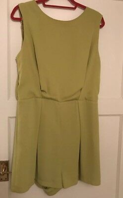 Topshop Green Lace Play suit Tall Size 16