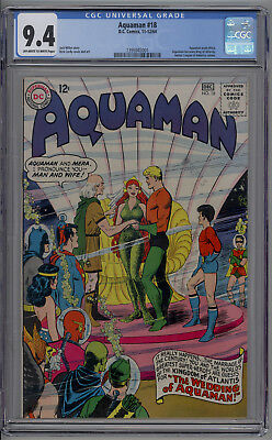 Aquaman # 18 CGC 9.4 NM Nick Cardy Cover & Art 1964 High Grade DC Silver Age