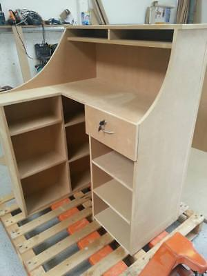 Small L Shaped reception desk, mdf salon hairdressing reception desk